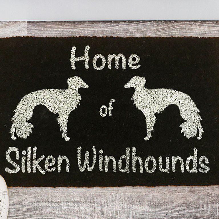 Fußmatte mit Silken Windhound