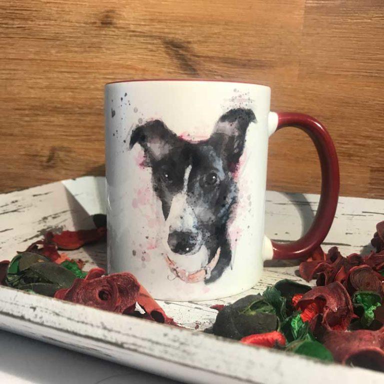 Tasse Windhund watercolor Style Windhund
