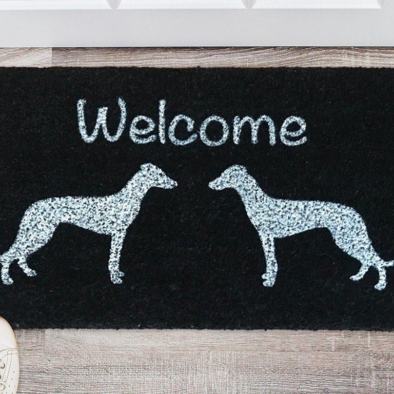 Fußmatte mit Windhund