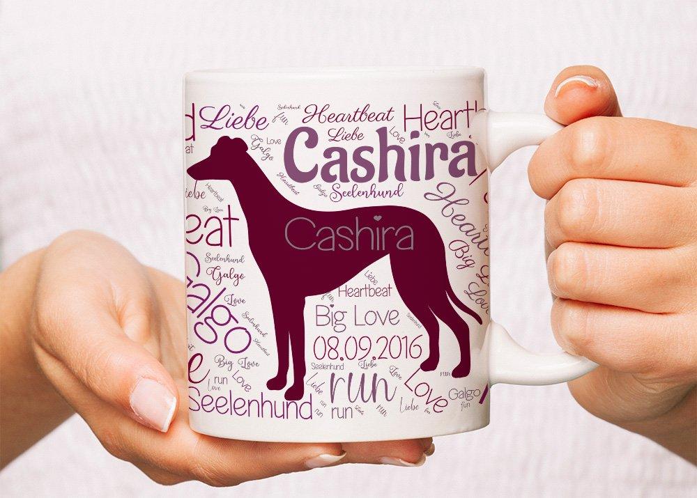 Wortwolke Tasse Windhund