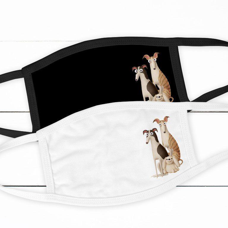Alltagsmaske mit Windhund