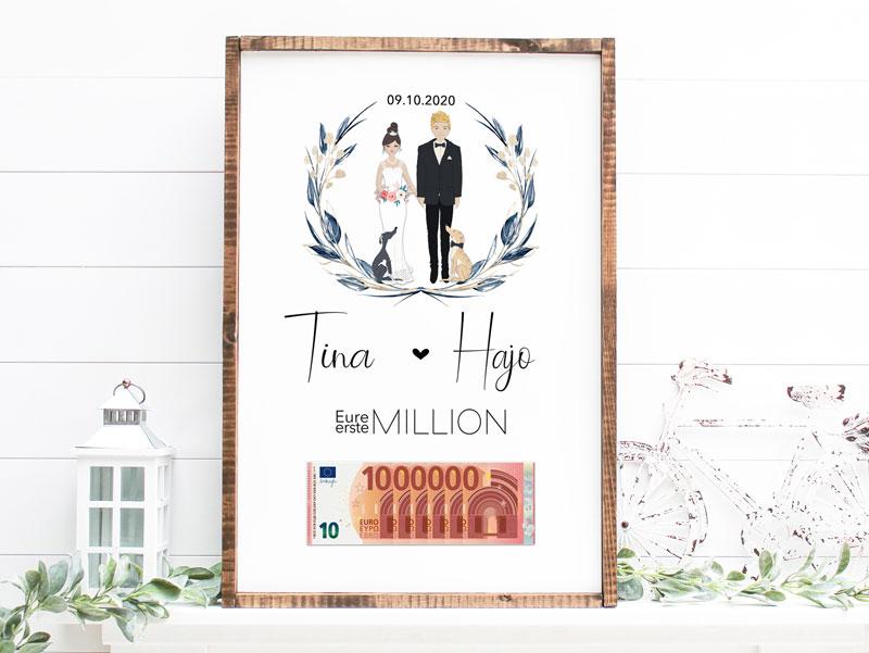Geldgeschenk zur Hochzeit - Personalisierung durch Dich
