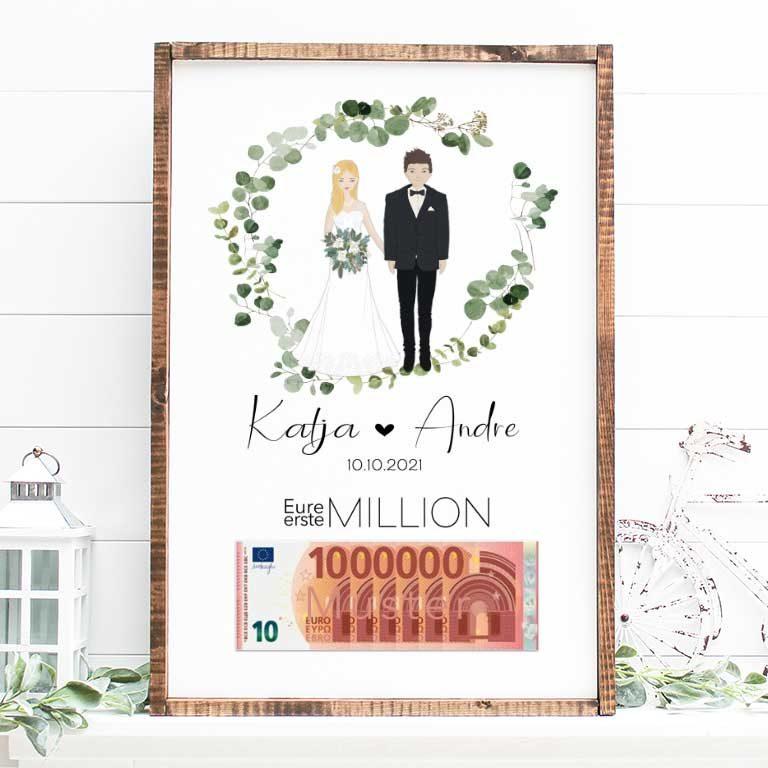 Eure Erste Million Hochzeitsposter