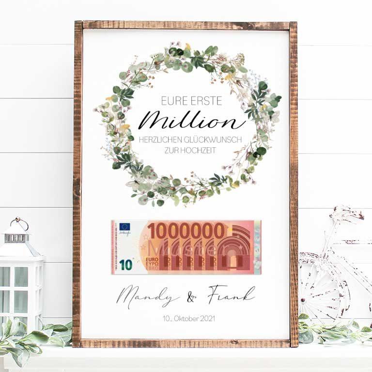 Erste Million Hochzeitsgeschenk